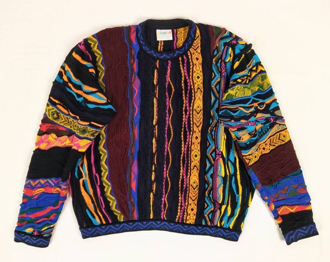 COOGI 80s vintage men's multicolor cotton sweater