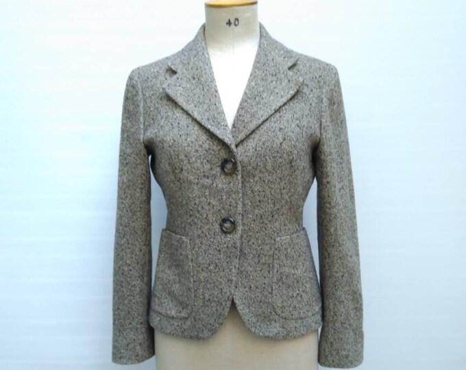 MAX MARA vintage multicolor flecked tweed jacket