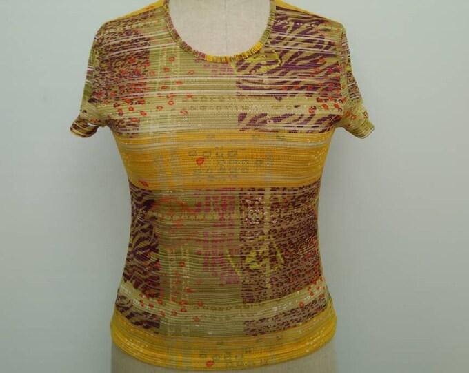 KENZO JUNGLE vintage 90s semi-sheer mesh t-shirt top