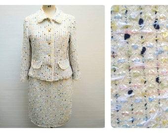 590616324d2c4 ESCADA vintage 90s boucle tweed skirt suit