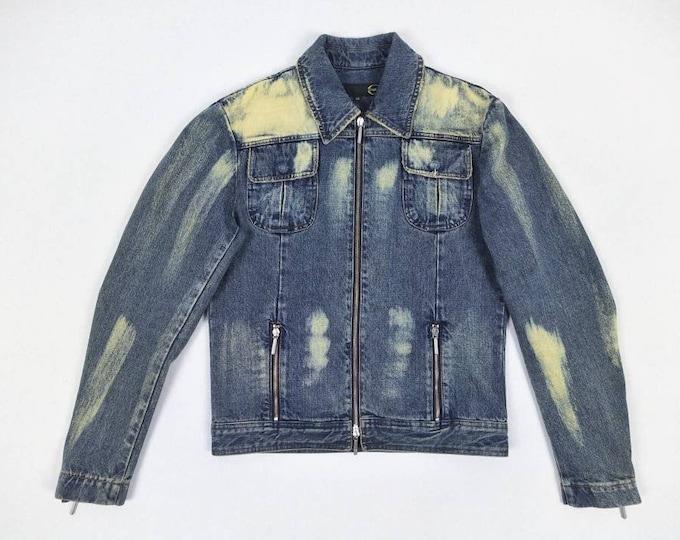JUST CAVALLI vintage bleach denim jacket