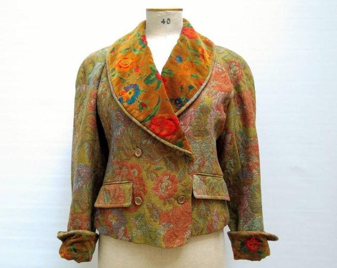 KENZO PARIS vintage 80s floral tapestry jacket