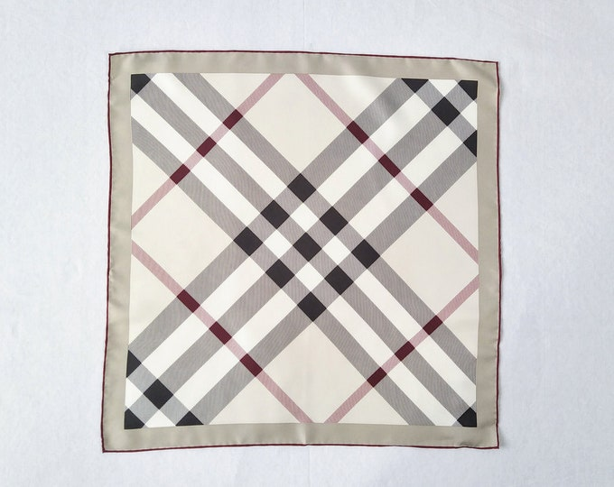 BURBERRY pre-owned giant check silk twill pocket square