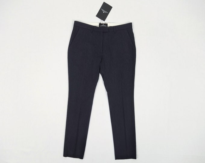 DESIGNERS REMIX navy pinstriped wool blend pants NWT
