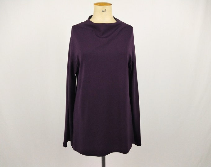WOLFORD pre-owned eggplant viscose knit tunic