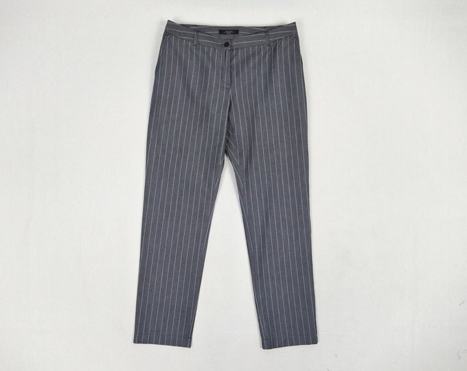 MAX MARA pre-owned grey pinstripe cotton pants
