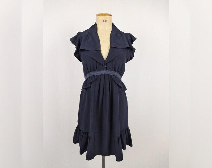 SANDRO pre-owned navy silk dress