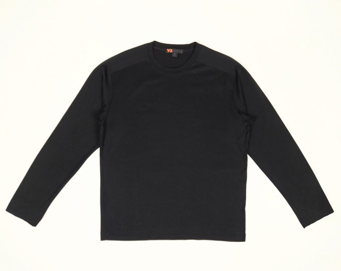 Y-3 Adidas by Yohji Yamamoto pre-owned men's black long sleeve t-shirt