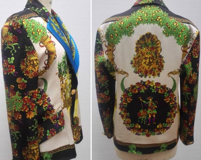 MARINA SITBON for KAMOSHO 90s vintage baroque print blazer