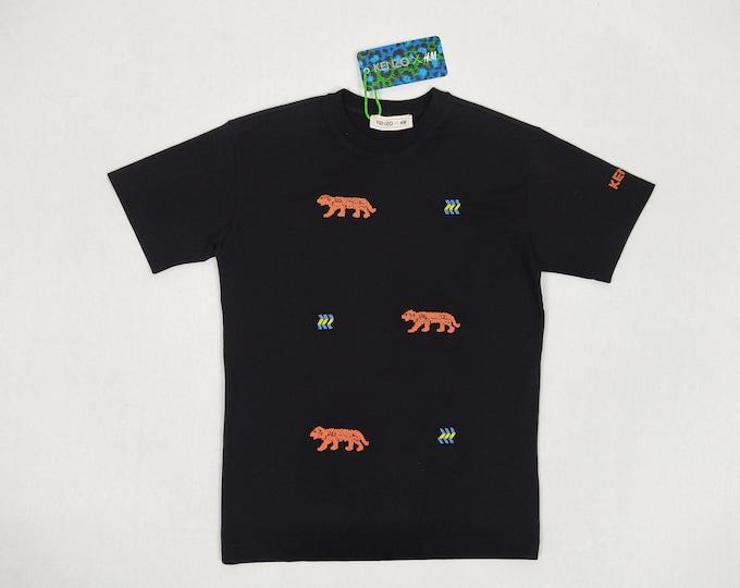KENZO X H&M unworn men's black beaded t-shirt NWT