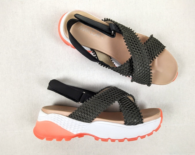 MARC CAIN pre-owned sporty platform sandals