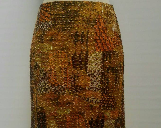 CHRISTIAN LACROIX BAZAR vintage multicolor bouclé skirt