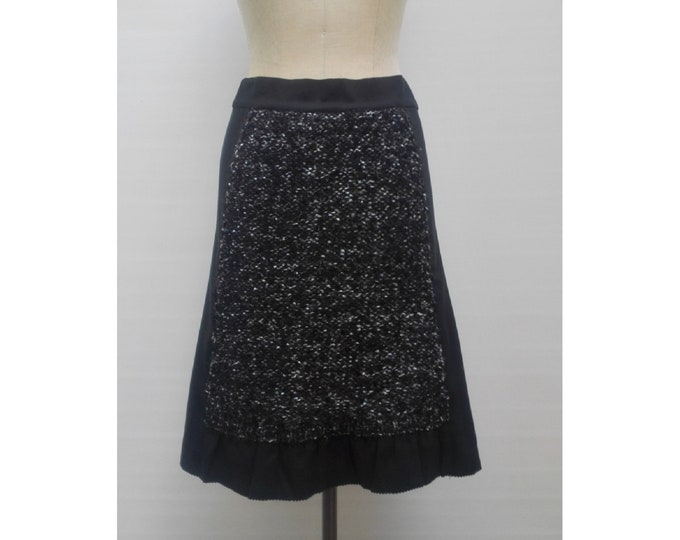 MARC by MARC JACOBS black faille skirt with ribbon knit panels Nwt