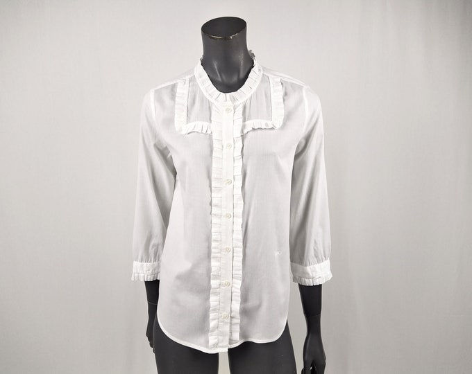 SEE BY CHLOE pre-owned white cotton bib blouse