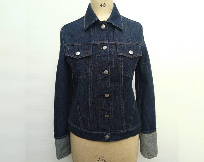 HELMUT LANG vintage 90s denim jacket with extra long sleeves