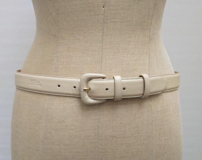 LONGCHAMP pre-owned cream leather belt