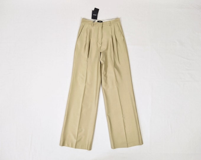 BOSS unworn gold wide leg pants NWT