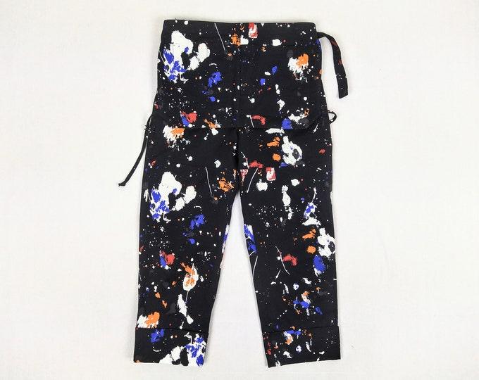 3.1 PHILLIP LIM pre-owned men's paint splatter apron pants