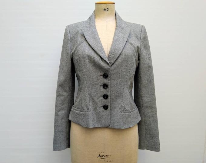 KENZO vintage 90s micro houndstooth wool jacket