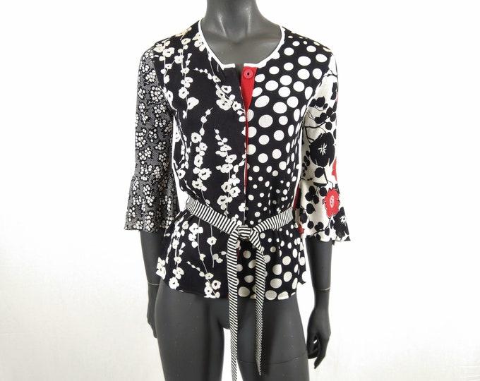 KENZO pre-owned multi pattern silk knit cardigan