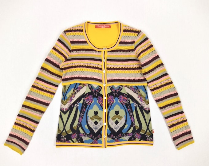 CHRISTIAN LACROIX JEANS pre-owned multicolor cardigan