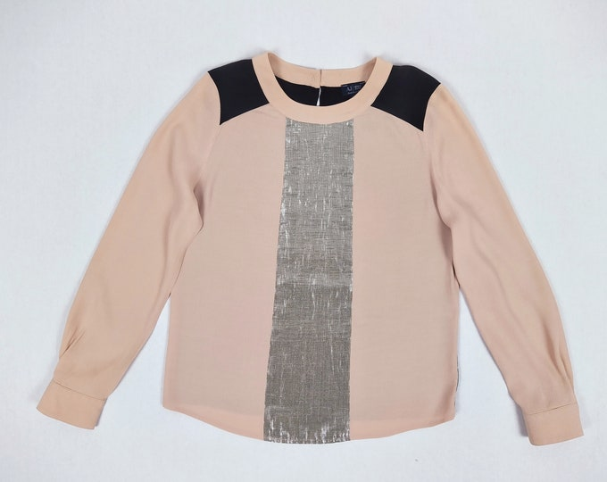 ARMANI JEANS pre-owned colourblock crepe blouse