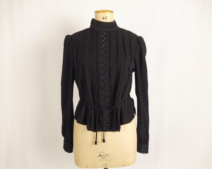 SEE BY CHLOE pre-owned black wool crepe blouse