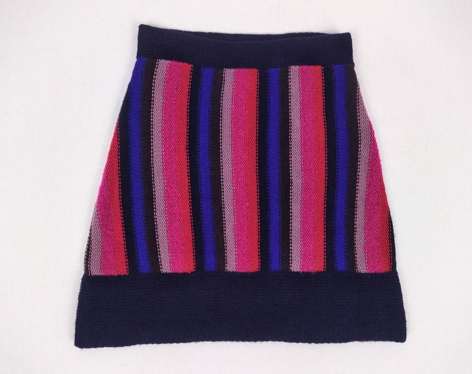 SONIA by SONIA RYKIEL pre-owned multicolour striped wool knit skirt