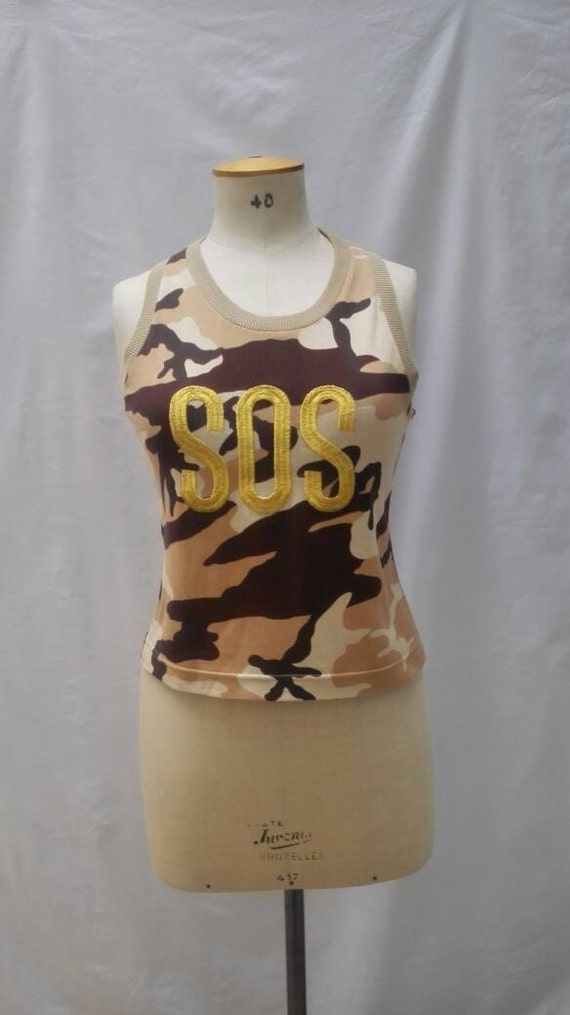 MOSCHINO CHEAP and CHIC vintage 90s camouflage cro