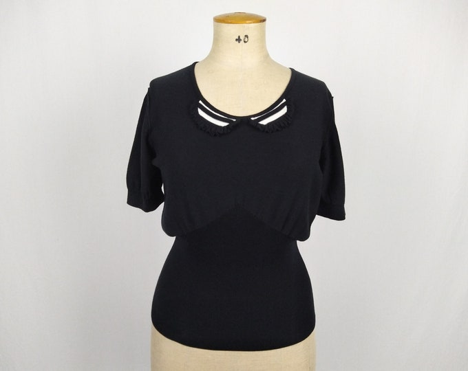 SONIA by SONIA RYKIEL pre-owned black cotton knit top