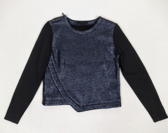 KARL LAGERFELD pre-owned navy coated sweater