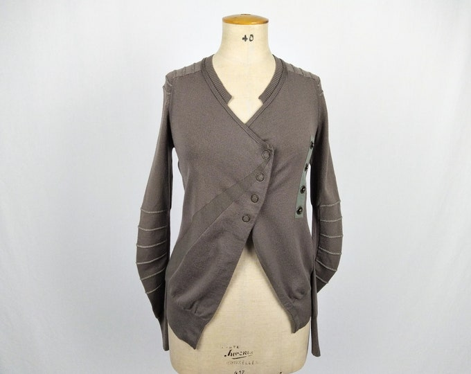 MARITHE + FRANCOIS GIRBAUD pre-owned taupe wool wrap cardigan