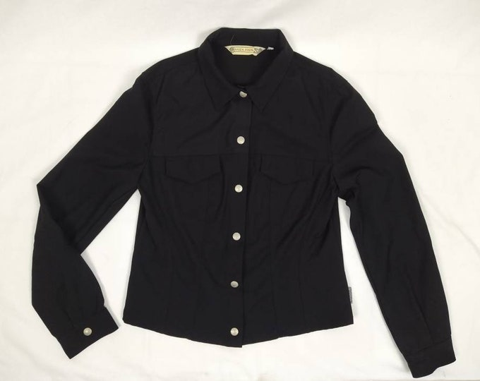 KRIZIA JEANS vintage 90s black shirt jacket