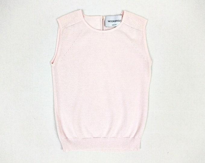 VIKTOR & ROLF pre-owned pink lurex knit tank top