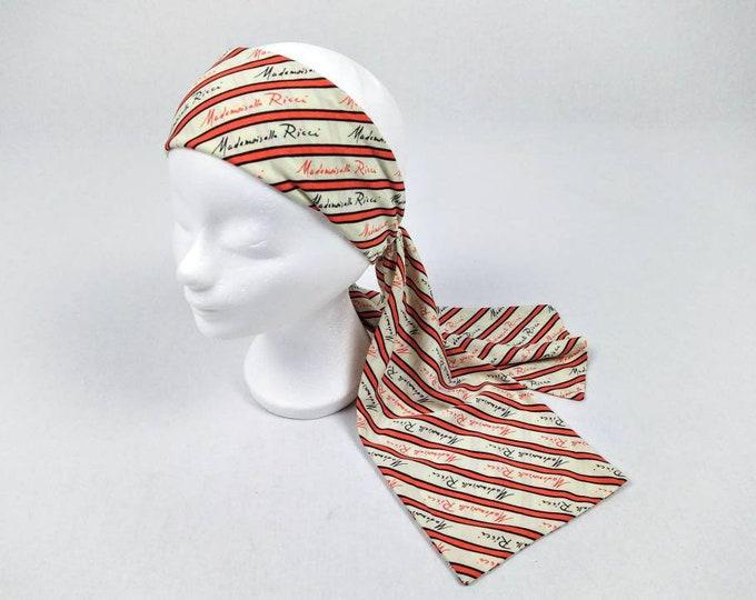MADEMOISELLE RICCI vintage signature print striped scarf