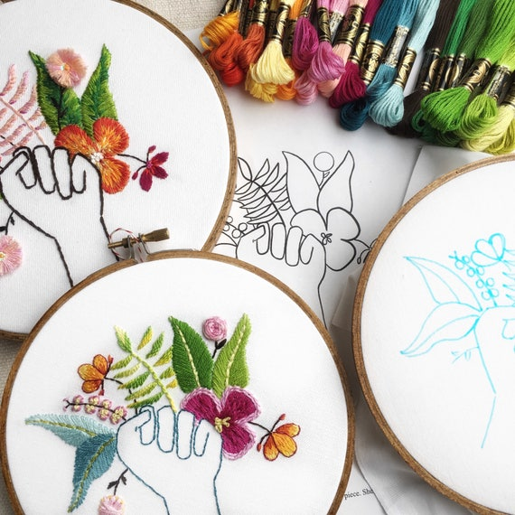 Embroidery Pattern Pdf Embroidery Hoop Modern Embroidery Etsy