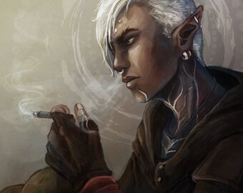 Dragon Age 2 inspired: Modern Fenris - A4 sized print