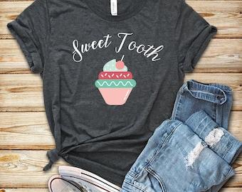 Sweet Tooth Shirt Tank Top Hoodie Cupcake Party Birthday Dessert