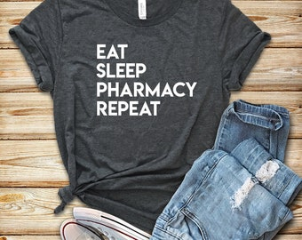 b647d38c Eat Sleep Pharmacy Repeat / Shirt / Tank Top / Hoodie / Pharmacist Shirt /  Pharmacist / Pharmacist Gift / Gift for Pharmacist / Student