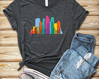 be3494b7 Minneapolis Watercolor Skyline / Shirt / Tank Top / Hoodie / Minneapolis  Pride Tee / Minneapolis Gift / I Love Minneapolis / Minnesota
