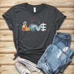 Flight Attendant Love / Shirt / Tank Top / Hoodie / Flight Attendant Tee / Cabin Crew Gift / Flight Crew Shirt / Gift For Stewardess