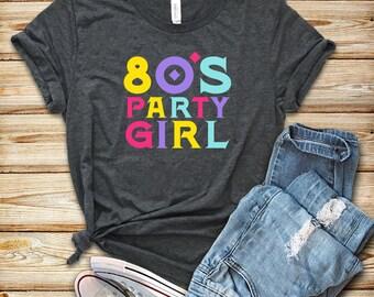 92b67896c 80's Party Girl / Shirt / Tank Top / 80s shirt / Vintage Shirt / 80s  Clothing / 80s Shirts / 80s / Vintage 80s Shirt / 80s Costume / 80s Tee