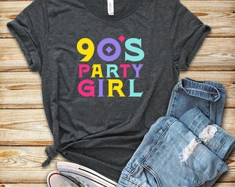 7410d197af4f3 90 s Party Girl   Shirt   Tank Top   90s shirt   Vintage Shirt   90s  Clothing   90s Shirts   90s   Vintage 90s Shirt   90s Costume   90s Tee