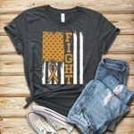 Appendix Cancer Fight Flag/ Shirt / Tank Top / Hoodie / Appendix Cancer Shirt / Appendix Cancer Survivor / Appendix Awareness / Amber Ribbon