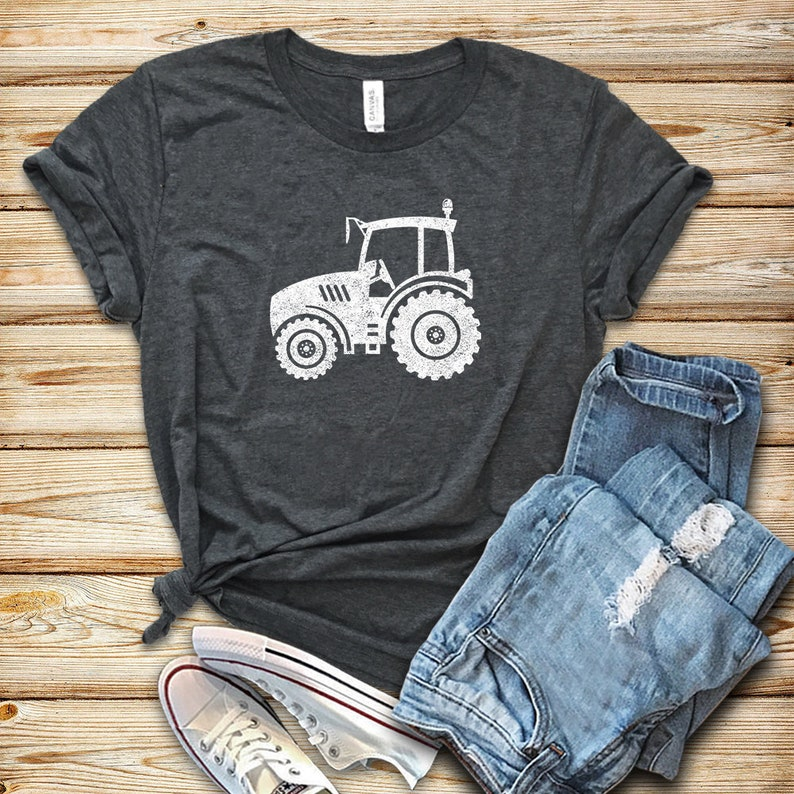 Tractor Distressed / Shirt / Tank Top / Hoodie / Tractor Shirt image 0