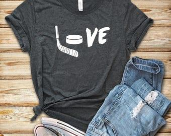Love Hockey / Unisex T-Shirt / Tank Top / Hoodie / Hockey Shirt / Hockey Gift / Hockey T-Shirt / Mens Womens Hockey Shirts / Hockey Fan