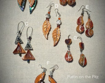 Puttin on the PITS- Avocado earrings - One of kind! Made in USA