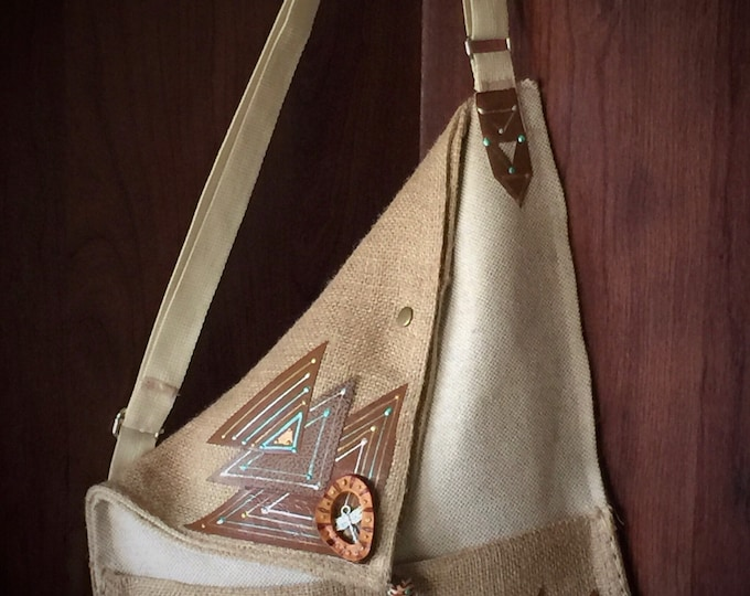 Dragonfly -Origami Crossbody Handbag-One of kind- made in the USA!