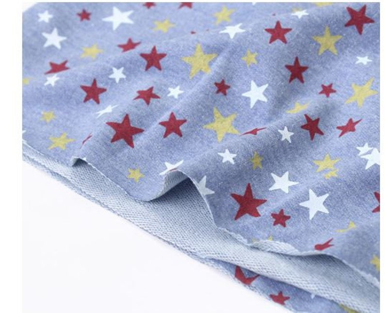 71d11dc04f8 CLEARANCEstars french terry knit fabric/star baby boy french   Etsy