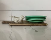 Vintage Fiesta 6 quot Bread Butter Plate, Green Glaze, Farmhouse Decor, Antique